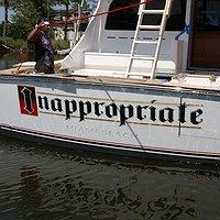 Inappropriate Miami Beach Boat Transom
