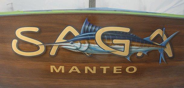 Saga, Manteo Boat Transom