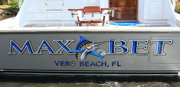 Max Bet, Vero Beach Florida Boat Transom