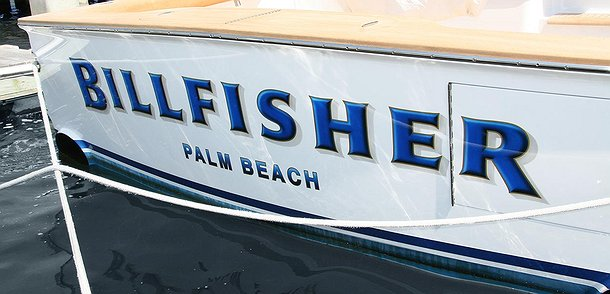 Billfisher, Palm Beach Boat Transom