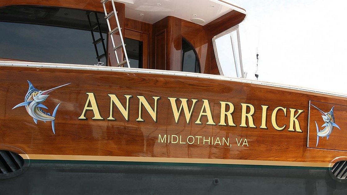 Ann Warrick, Midlothian Virginia Boat Transom
