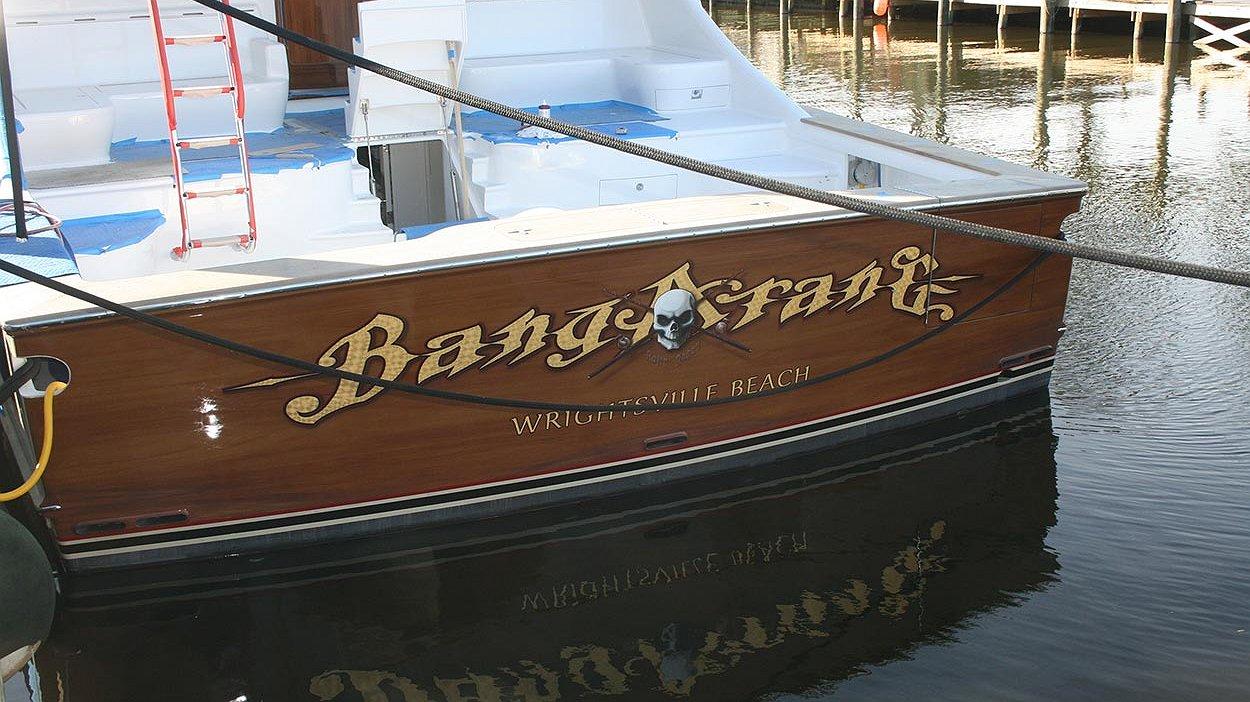 bangarang wrightsville beach boat transom