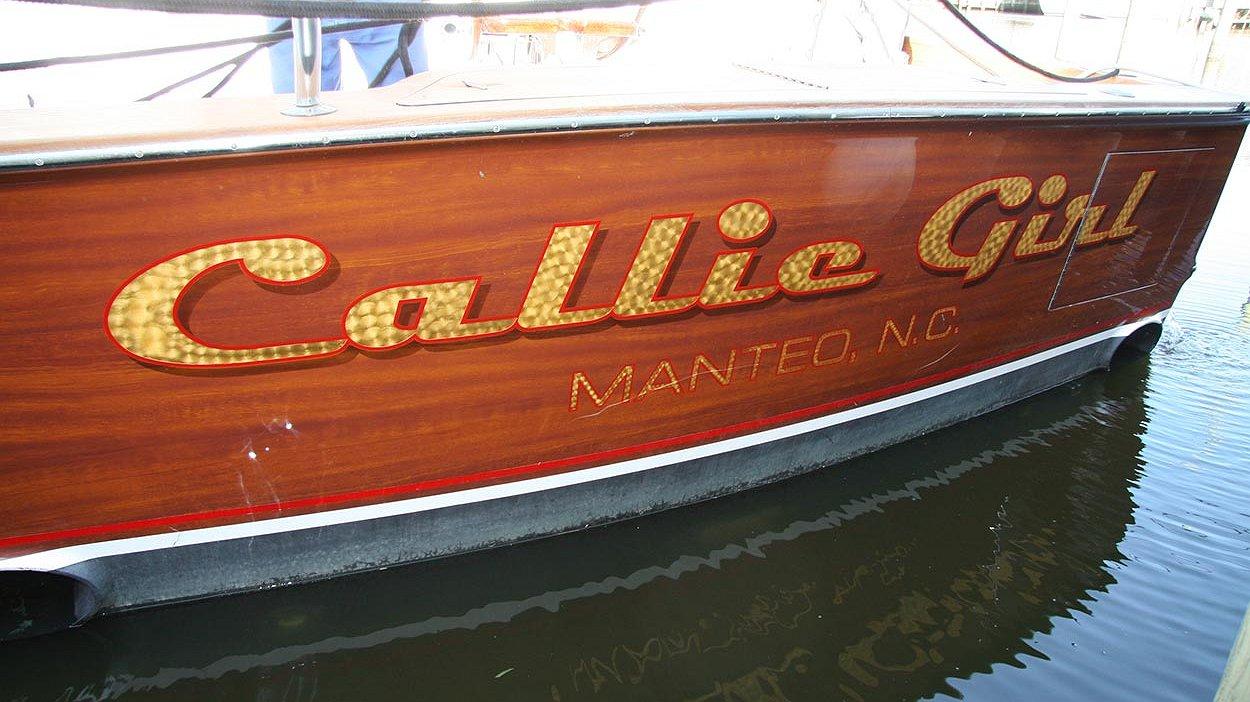 Callie Girl, Manteo North Carolina Boat Transom