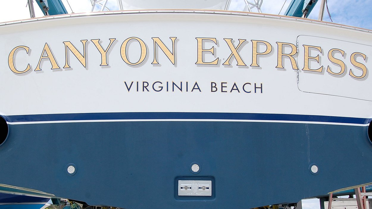Canyon Express, Virginia Beach Boat Transom