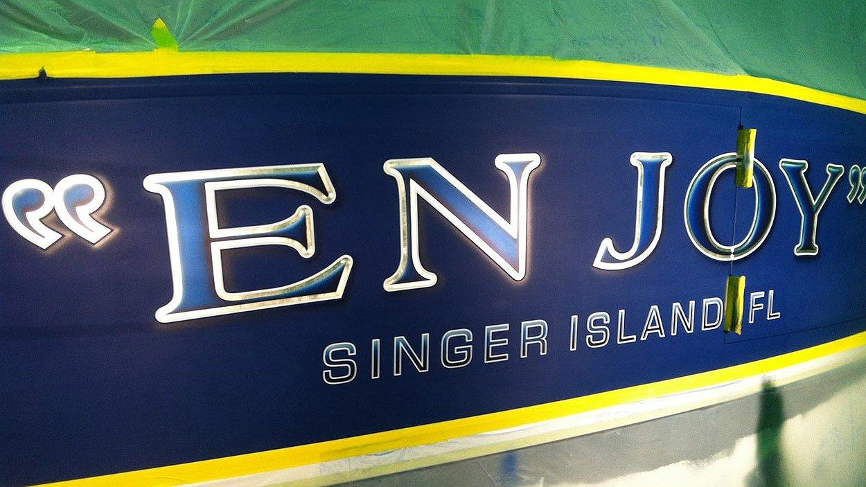 En Joy, Singer Island Florida Boat Transom