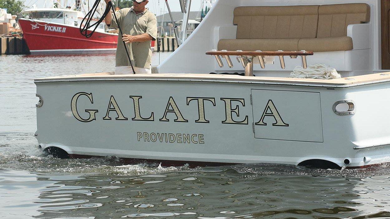 Galatea, Providence Boat Transom