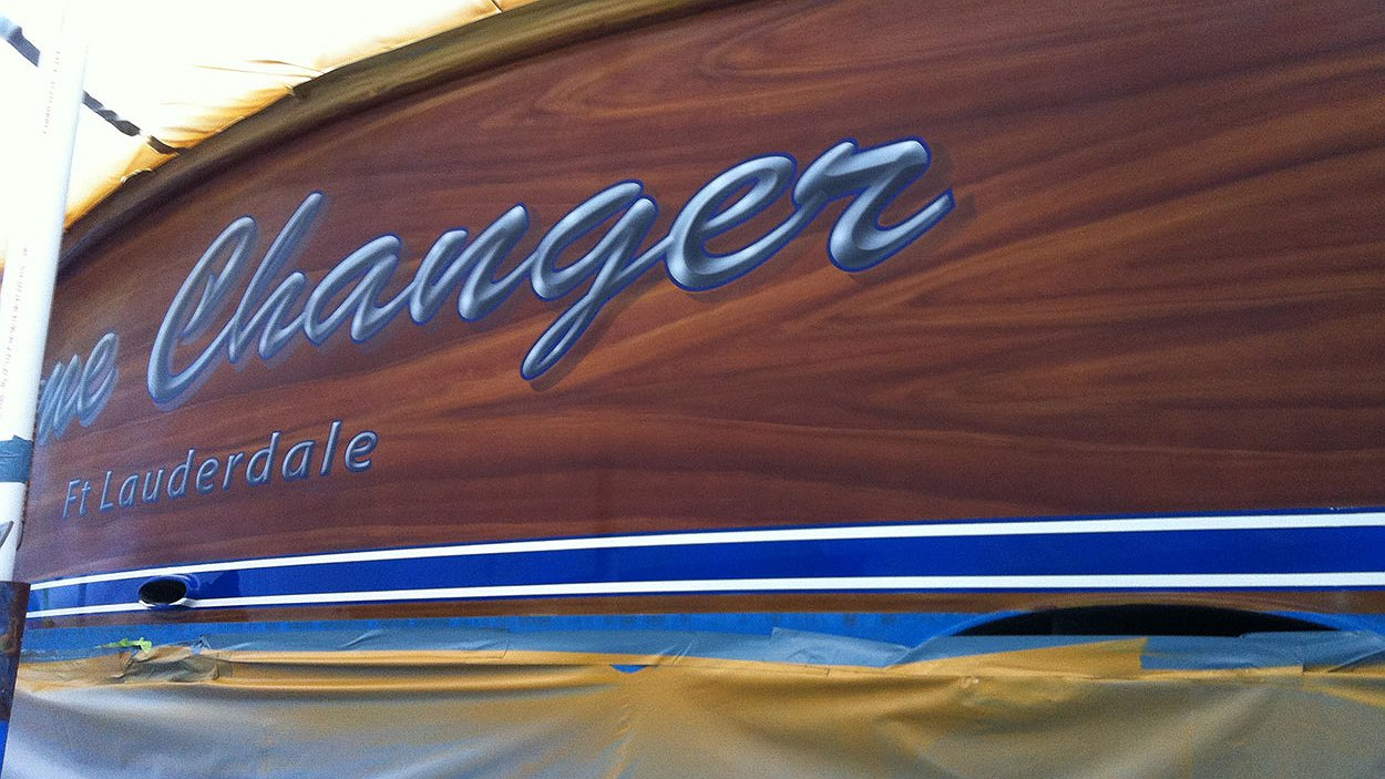 Game Changer, Ft Lauderdale Boat Transom