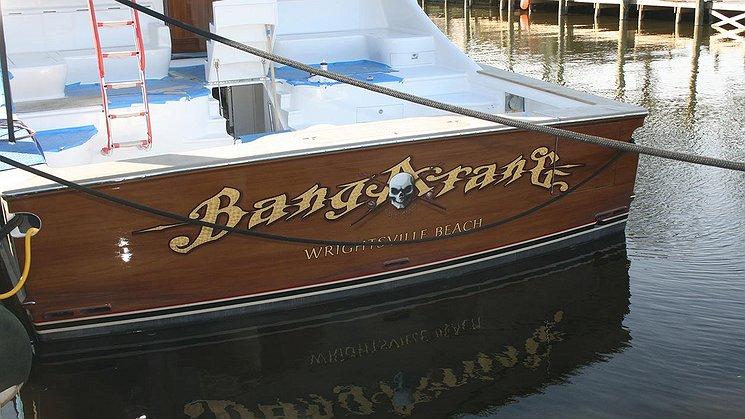 Bangarang, Wrightsville Beach Boat Transom