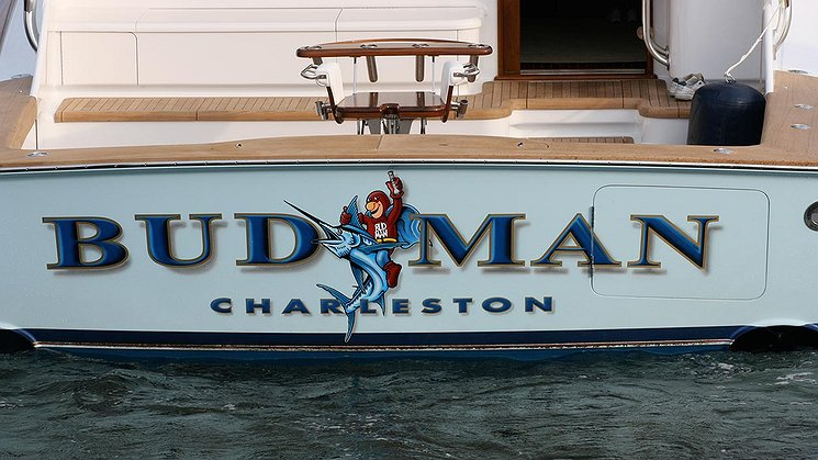 Budman, Charleston Boat Transom