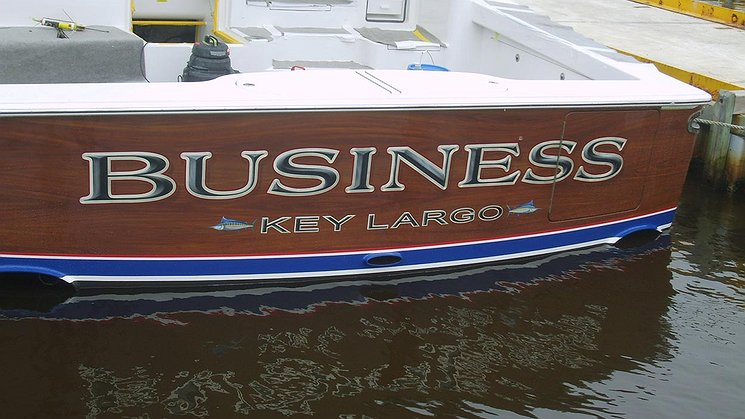 Business, Key Largo Boat Transom