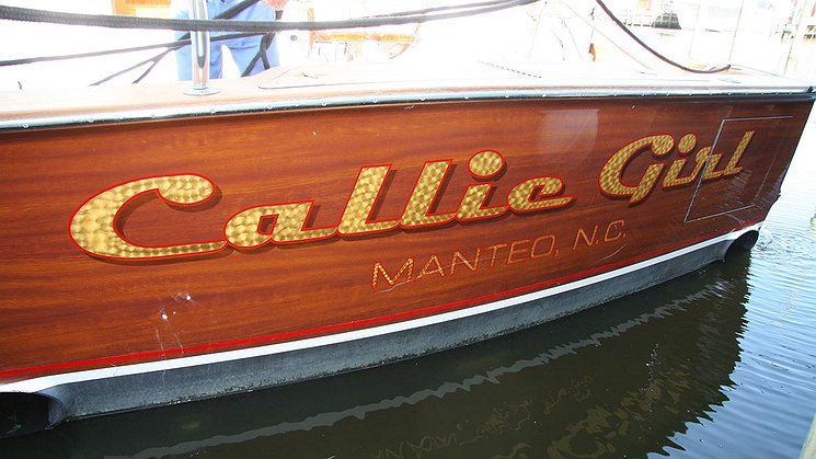 Callie Girl, Manteo North Carolina Boat Transom