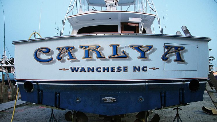 Carly A, Wanchese North Carolina Boat Transom