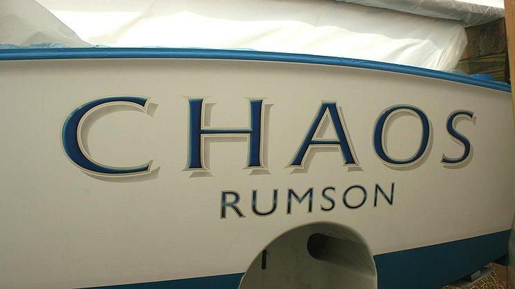 Chaos, Rumson Boat Transom