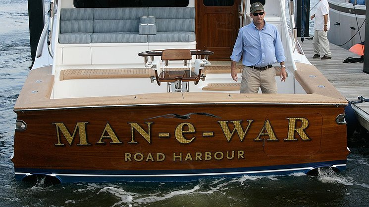 Man-e-War, Road Harbour Boat Transom