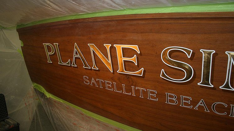 Plane Simple, Satellite Beach Florida Boat Transom