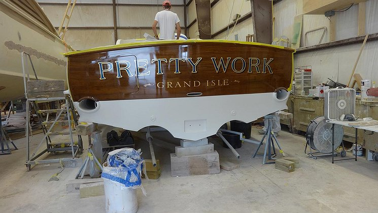 Pretty Work, Grand Isle Boat Transom