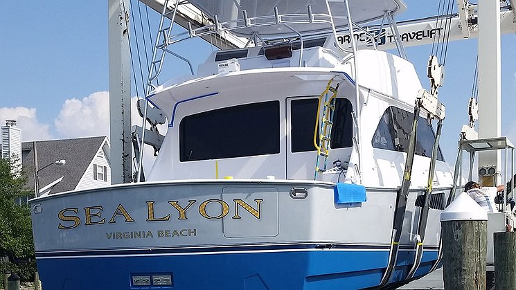 Sea Lyon, Virginia Beach Boat Transom