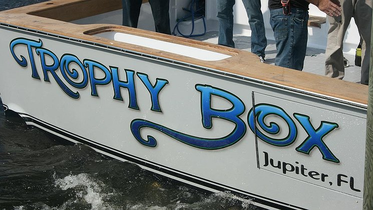Trophy Box, Jupiter Florida Boat Transom