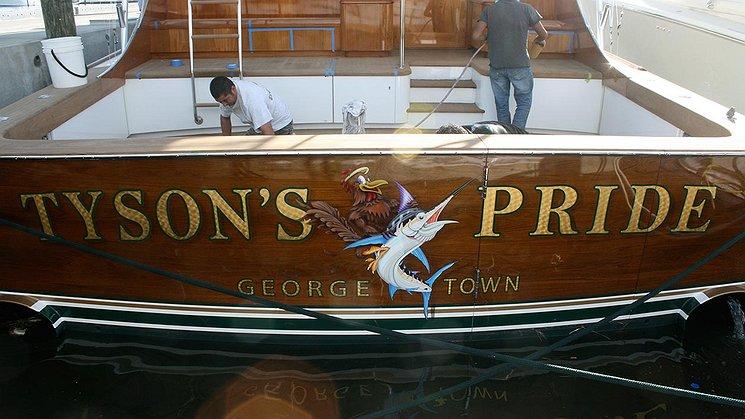 Tyson's Pride, George Town Boat Transom