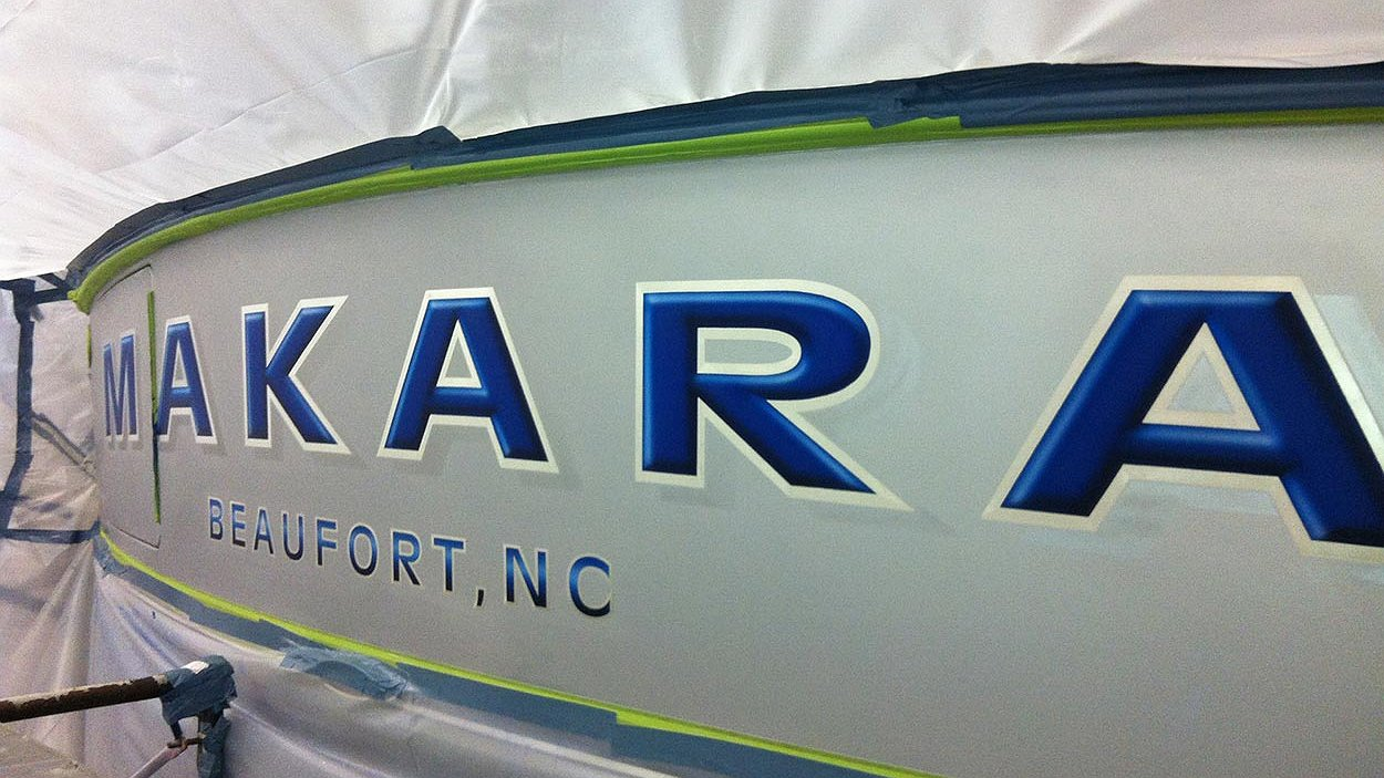 Makara, Beaufort North Carolina Boat Transom