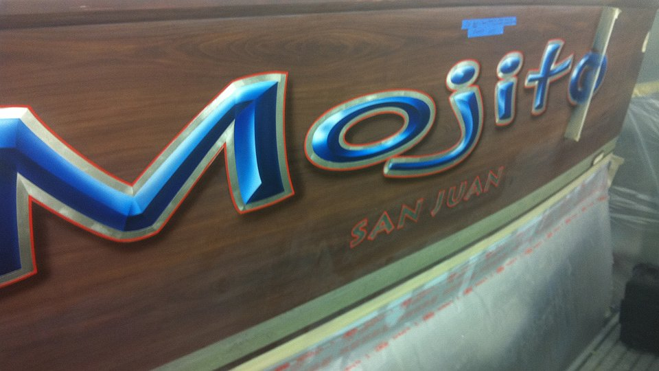 Mojito, San Juan Boat Transom