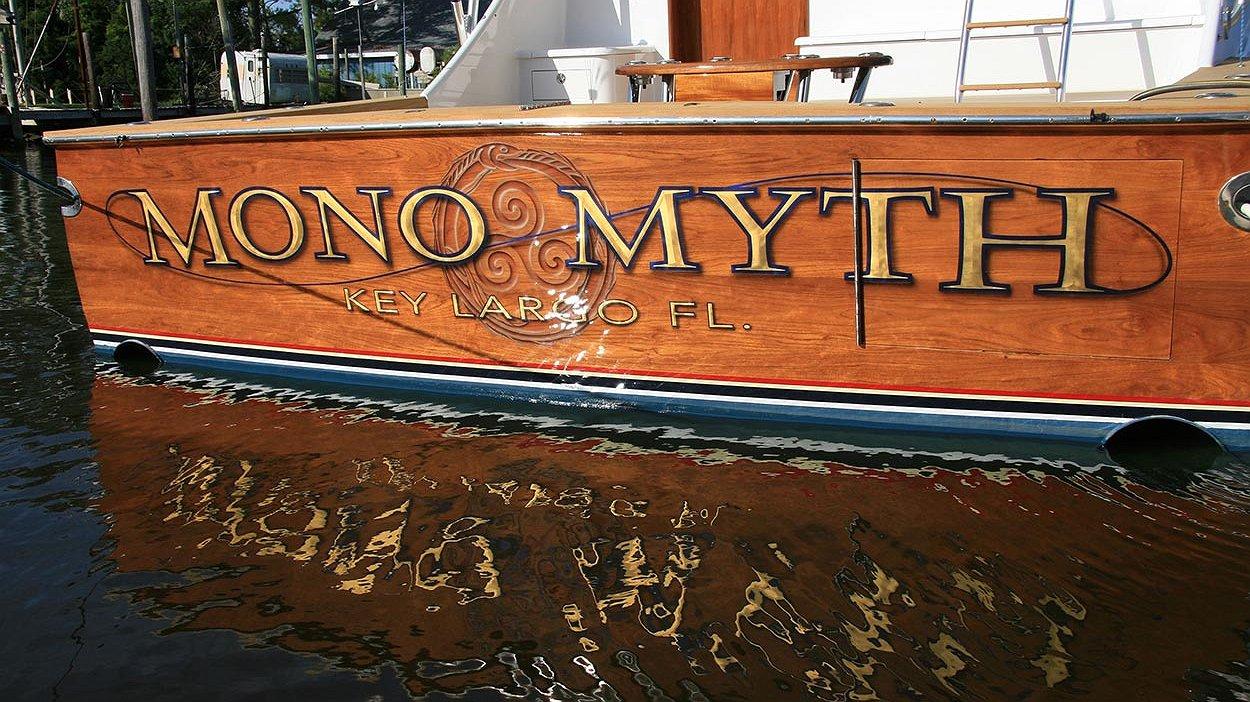 Mono Myth, Key Largo Florida Boat Transom