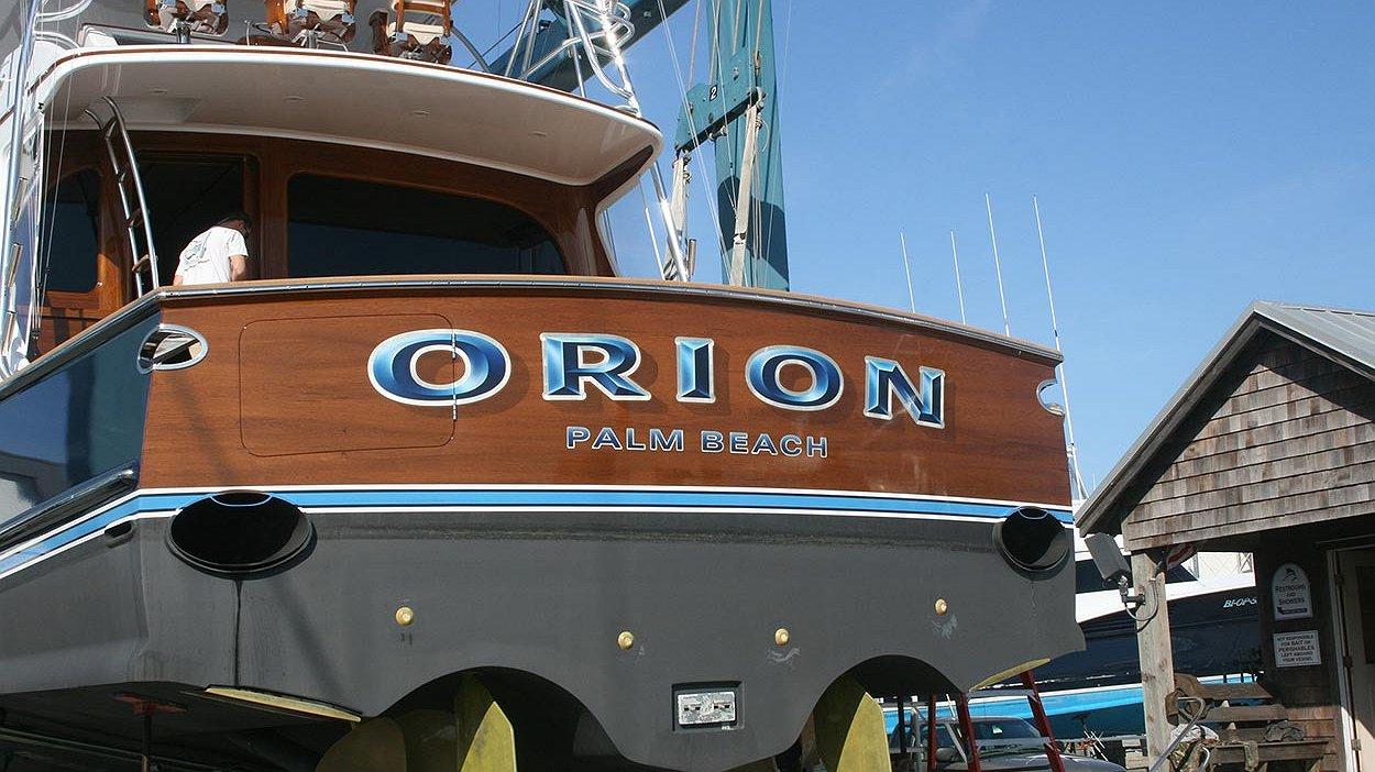 Orion, Palm Beach Boat Transom