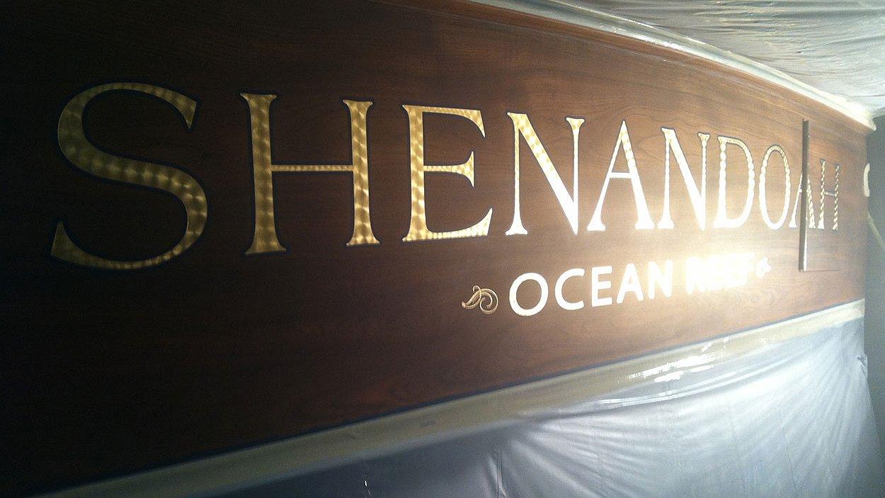 Shenandoah, Ocean Reef Boat Transom