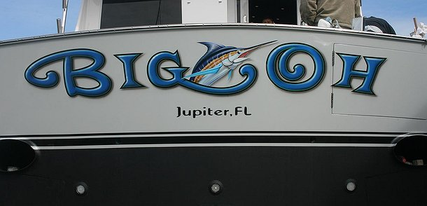 Big Oh, Jupiter Florida Boat Transom