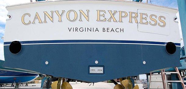 Canyon Express, Virginia Beach Boat Transom