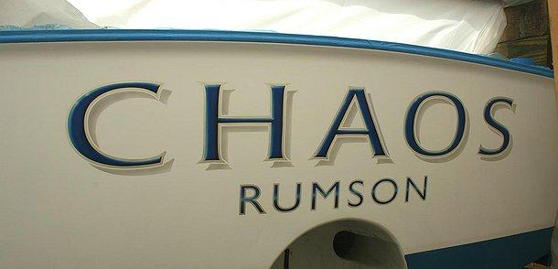 Chaos, Rumson Boat Transom