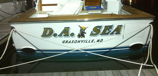D.a.sea, Grasonville Maryland Boat Transom