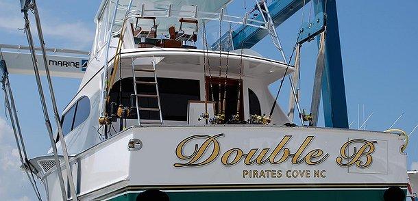 Double B, Pirates Cove North Carolina Boat Transom