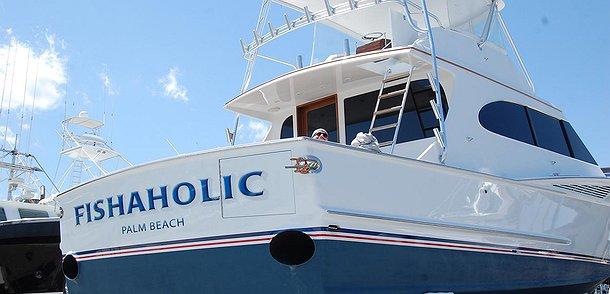 Fishaholic, Palm Beach Boat Transom