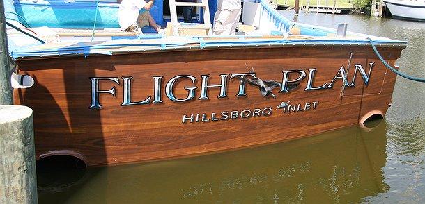 Flight Plan, Hillsboro-inlet Boat Transom