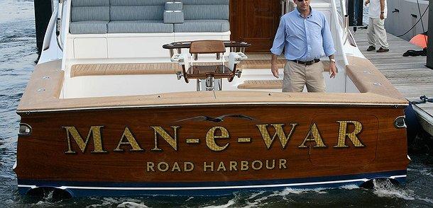 Man-e-War, Road Harbour Boat Transom
