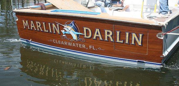 Marlin Darlin, Clearwater Florida Boat Transom