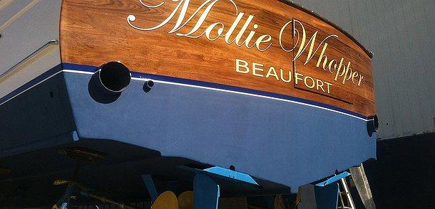 Mollie  Whopper, Beaufort Boat Transom