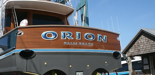 Orion, Palm Beach Boat Transom