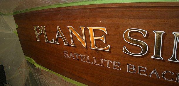 Plane Simple, Satellite Beach Florida Boat Transom