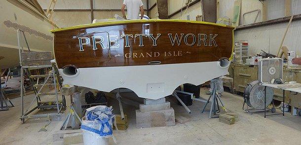 Pretty Work, Grand Isle Boat Transom