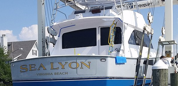 Sea Lyon, Virginia Beach Boat Transom