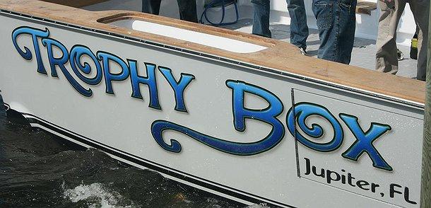 Trophy Box, Jupiter Florida Boat Transom