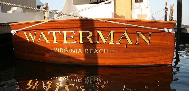 Waterman, Virginia Beach Boat Transom