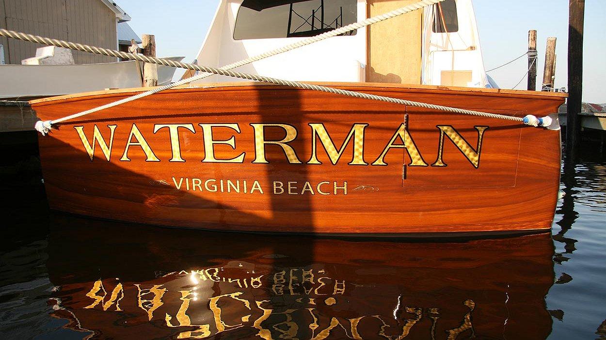 Waterman, Virginia Beach Boat Transom