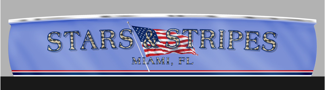 Stars & Stripes, Miami Florida Boat Transom   BOATS TRANSOM
